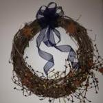 Primitive Patriotic Wreath,..