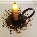 Taper Candle with Holder, L..