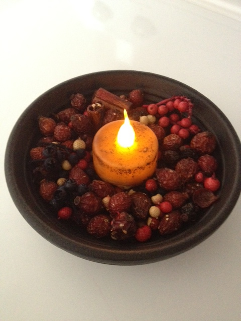 Candle, Berry and Rosehip Scented Bowl