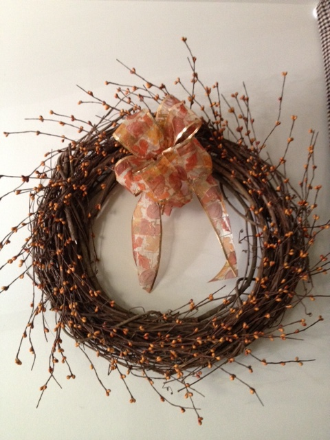 Fall Wreath, Grapevine Wreath 18 Inch